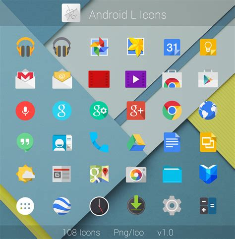 android l android l flat icons by dtafalonso on deviantart