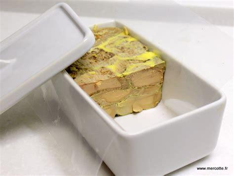 cuisine de mercotte recettes marbré de foie gras recette de dernière minute la