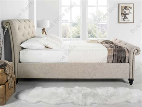 kaydian belford chesterfield style fabric bed frame buy