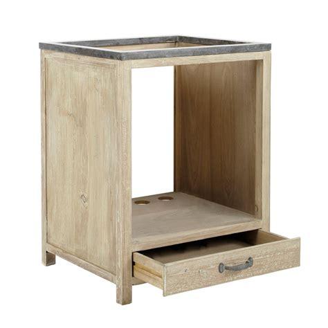 meuble bas de cuisine pour four en bois recyclé l 64 cm