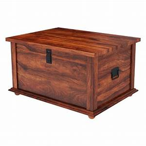 Primitive wood storage grinnell storage chest trunk coffee for Wood trunk coffee table