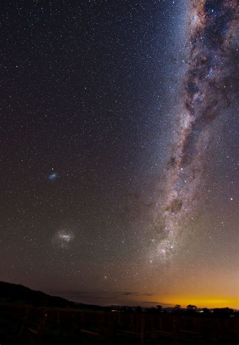 The Milky Way As Seen From Australia Magellanic Clouds