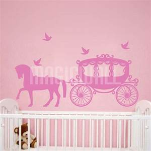 wall stickers princess carriage kids room magic wall With nice wall decals canada kids