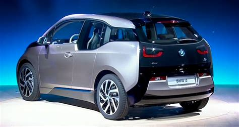 bmw  electric car unveiled simultaneously   world plugincarscom