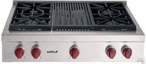 wolf srtclp   pro style gas rangetop   dual stacked sealed burners simmermelt