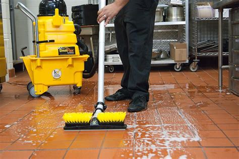 proper restaurant floor cleaning for different types of