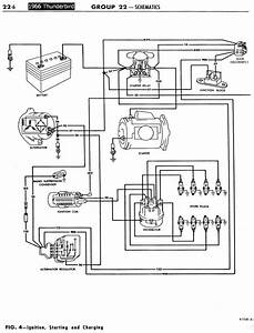 1955 t bird wiring diagram 1955 55 ford thunderbird t With ignition starting and charging schematic diagram of 1967 1968 thunderbird part 1