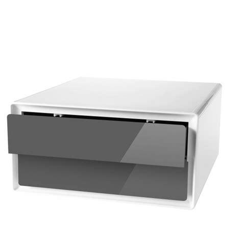 cuisine blanc et noyer rangement tiroir meuble rangement tiroirs meuble d