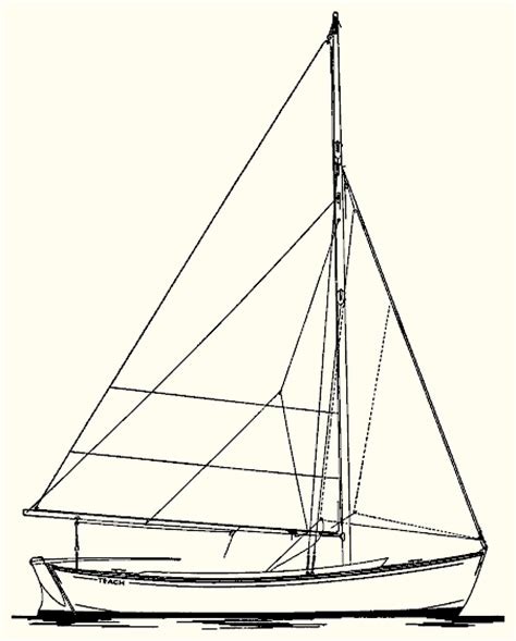 How To Draw A Keelboat by Drawn Sailboat Little Boat Pencil And In Color Drawn