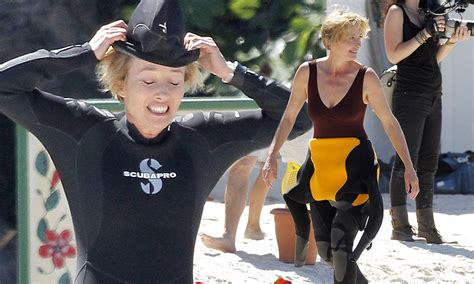emma thompson swimsuit emma thompson looks trim and slim in her swimsuit but