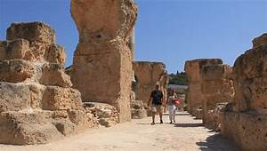 Ruins Of Ancient Carthage In Tunisia. Carthage Is A Major ...