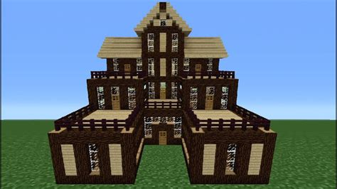 Wooden House In Minecraft - minecraft tutorial how to make a wooden house 6