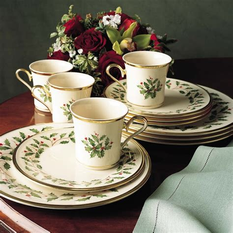 dinnerware holiday christmas lenox piece rated sets festive dishware