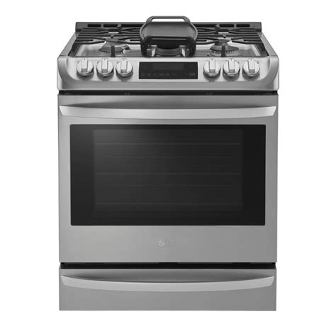 slide in electric range with downdraft shop lg lsg4513 easyclean 5 burner 6 3 cu ft self cleaning