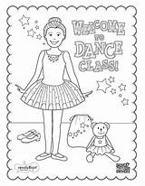 Coloring Dance Printable Class Step Welcome Ballet Jazz Templates Recital Crafts Template sketch template