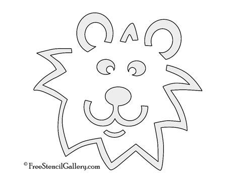 Lion Stencil 02 Free Stencil Gallery