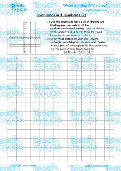4 quadrant coordinates worksheets ks2