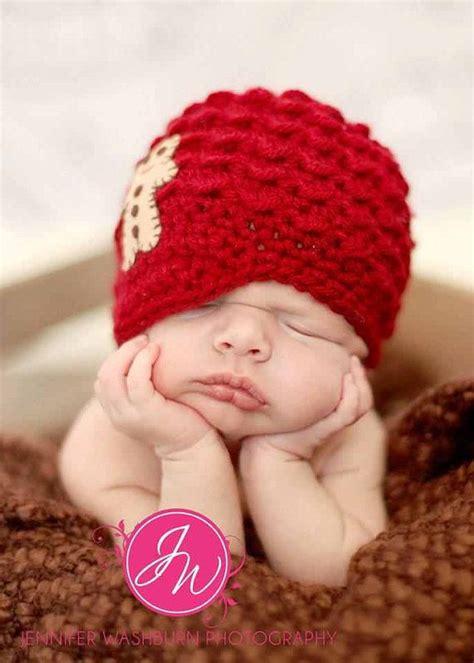 knit crochet baby boy beanie newsboy hat christmas red