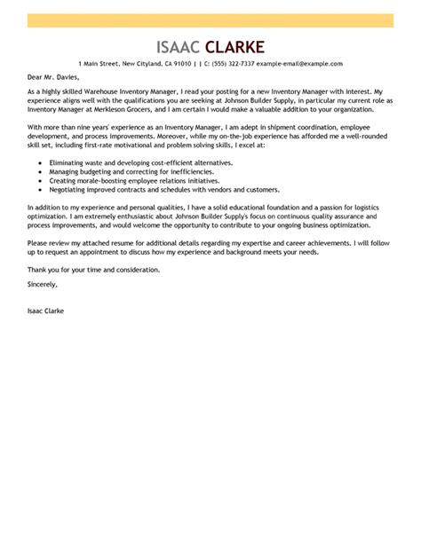 Inventory Cover Letter by Letter Of Interest Builder Free Cover Letter Builder