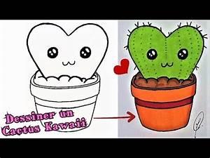 Comment Entretenir Un Cactus : dessiner un cactus kawaii tutoriel youtube ~ Nature-et-papiers.com Idées de Décoration