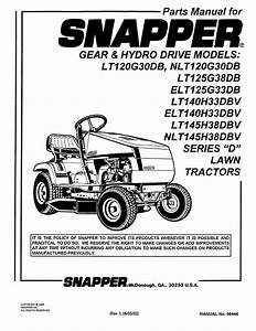 Snapper Lawn Mower Lt140h33dbv User Guide