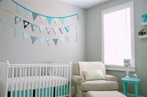 chambre bébé turquoise et gris déco chambre bébé turquoise