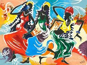 African Dancers No 2 Painting by Elisabeta Hermann
