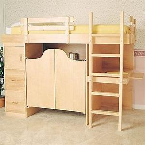 Woodworking Project Paper Plan to Build 3-In-1 Bunk Bed