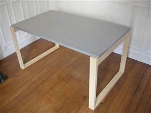 Table Beton Bois : table b ton et bois r044 bton design ~ Premium-room.com Idées de Décoration