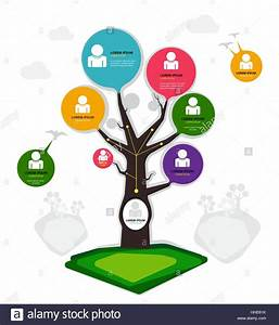 Organization Chart Tree Concept Group Layer In File