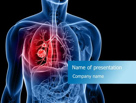 cancer cell cover template lung cancer powerpoint template backgrounds 08239