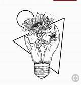 Space Coloring Drawing Drawings Flower Sunflower Outer Aesthetic Rose Flowers Tattoo Sketch Draw Unique Broken Inside Pencil Bb Faces October sketch template