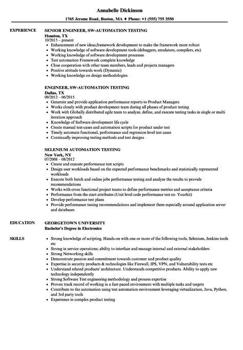 manual testing resume sample   years experience