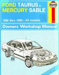 Ford Taurus And Mercury Sable Owners Workshop Manual 1986