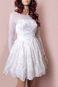 Plus size short embroidery lace and lulle wedding dress for Plus size short wedding dresses with sleeves