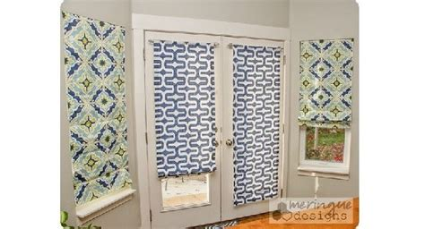 tutorial    roman shades  french doors sewing