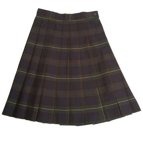 Plaid Pleated Skirt eBay