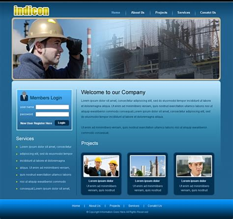 heavy construction website template  construction