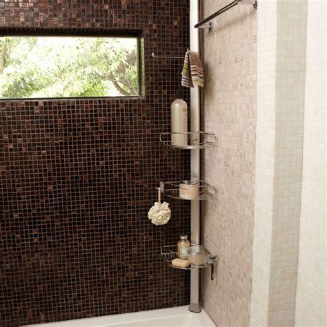 cuisine meubles bas etagère de d 39 angle à tension en métal chromé et