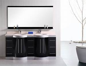 Double bathroom vanities for large room with rectangular for How high should a bathroom vanity be