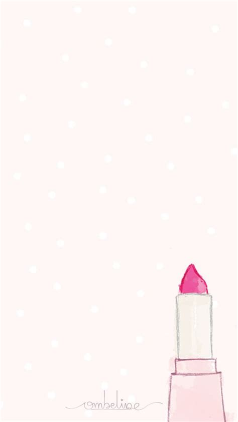 Girly Home Screen Pink Wallpaper by Watercolor Make Up Girly Pink Iphone Home Screen Wallpaper