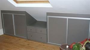 Meuble Pour Comble : armoire pour comble meuble combles meuble de rangement ~ Edinachiropracticcenter.com Idées de Décoration