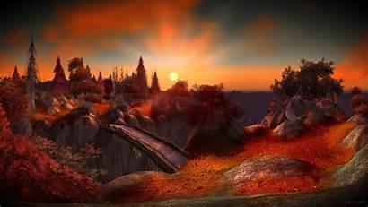Warcraft Sunset Autumn Games Season Desktop Wallpapers