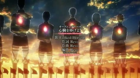 """There're many other roblox song ids as well. Attack on Titan Season 2 OPENING 3 Shinzo wo Sasageyo! """"Devote your hearts"""" - YouTube"""