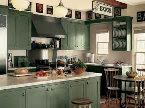 Kitchen Dark Green Kitchen Cabinet Painting Green Modern Kitchen Paint Colors With Oak Cabinets