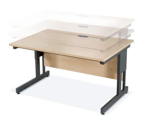 adjustable height office desk height adjustable desks blueline office furniture