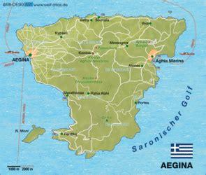 Karte von Aegina (Griechenland) - Karte auf Welt-Atlas.de ...
