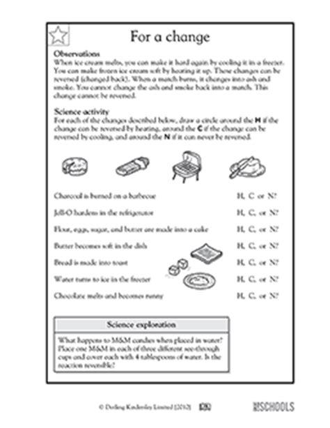 1st grade 2nd grade kindergarten science worksheets for