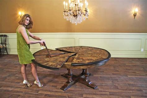 solid walnut oyster inlaid jupe table ebony expandable