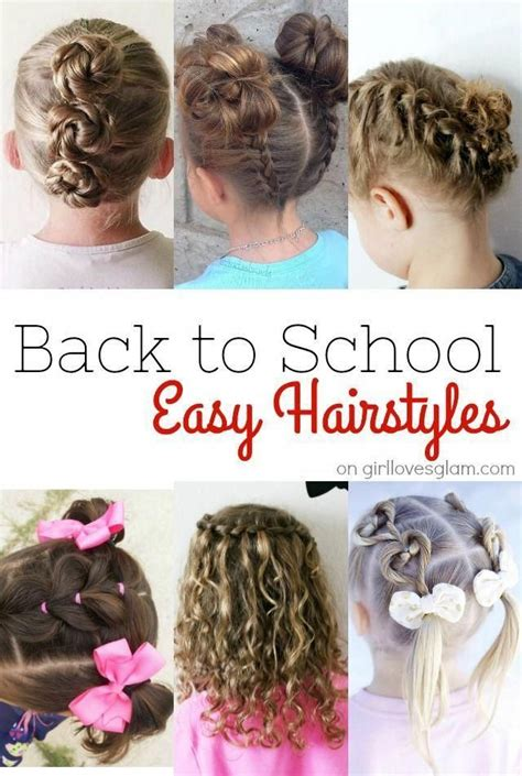 Easy back to school hairstyles for little girls No more